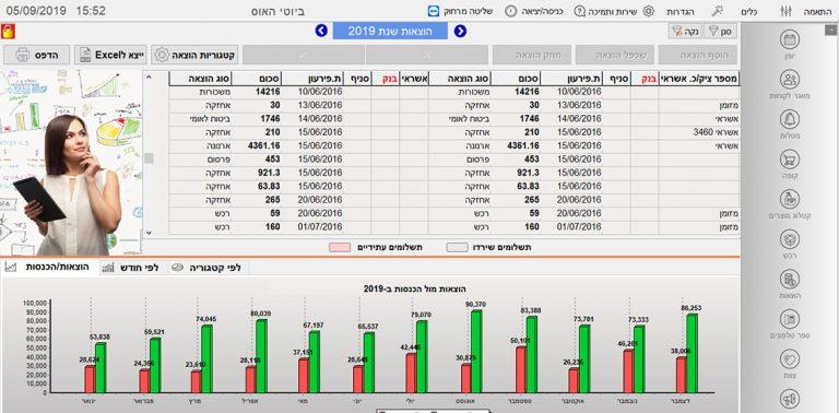 מעקב הוצאות והכנסות